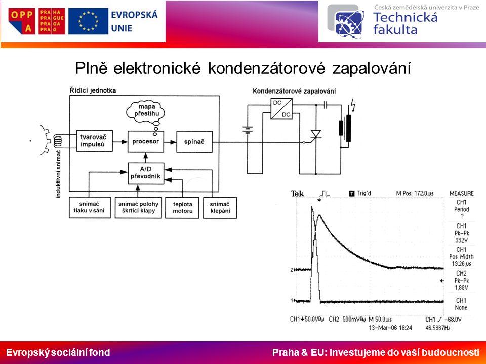 Evropský sociální fond Praha & EU: Investujeme do vaší budoucnosti Plně elektronické kondenzátorové zapalování