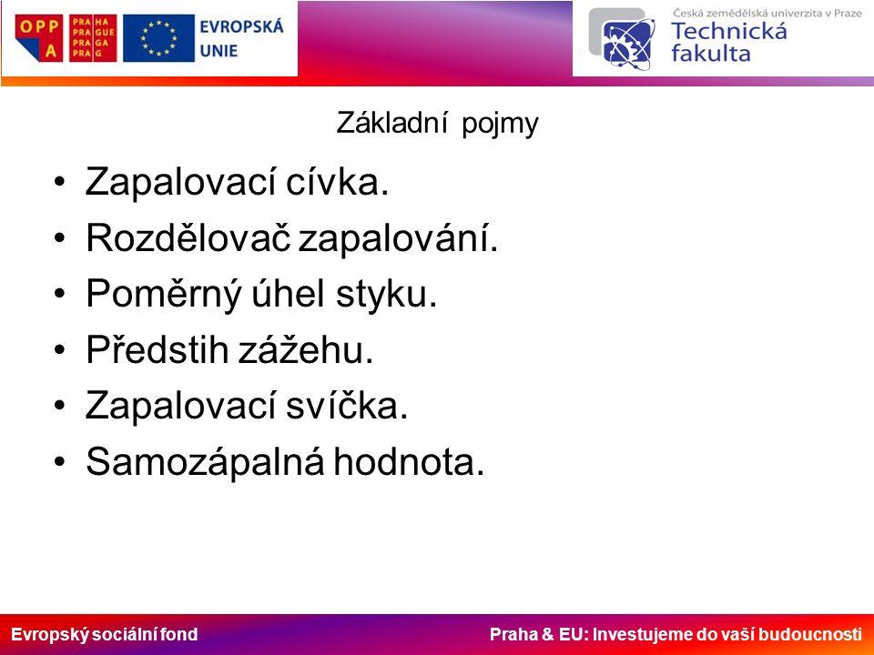 Evropský sociální fond Praha & EU: Investujeme do vaší budoucnosti Základní pojmy Zapalovací cívka.