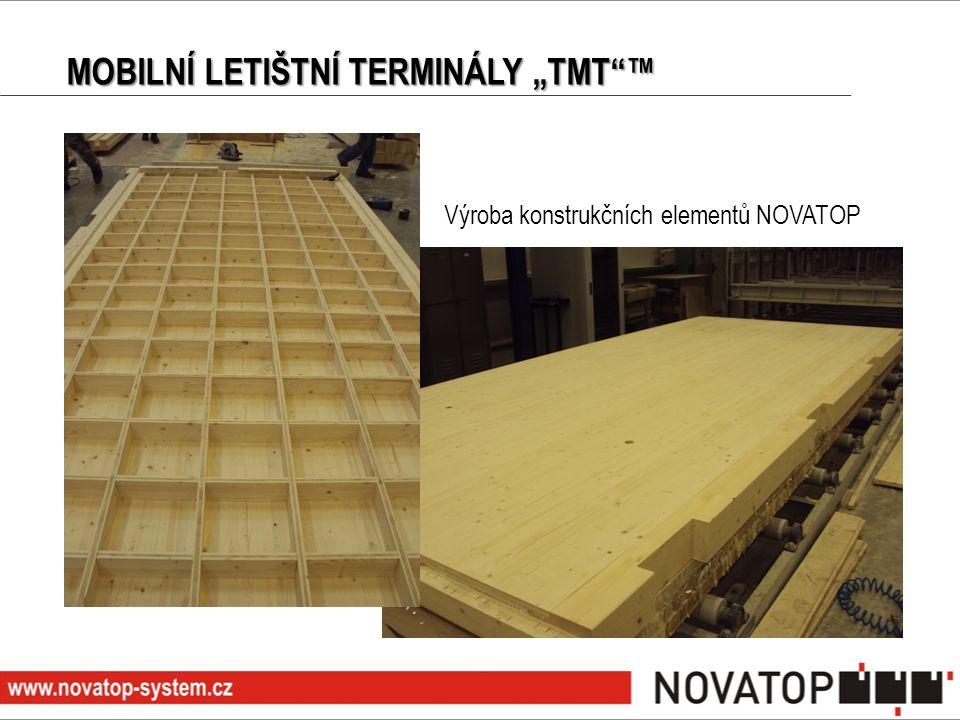 """MOBILNÍ LETIŠTNÍ TERMINÁLY """"TMT""""™ Výroba konstrukčních elementů NOVATOP"""