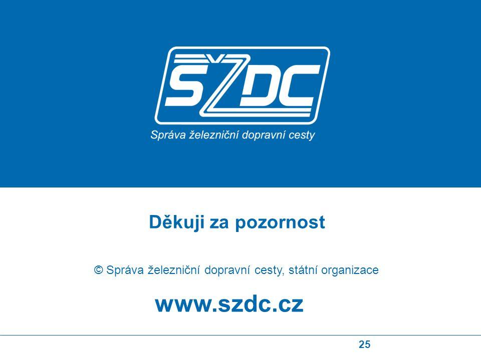 25 www.szdc.cz © Správa železniční dopravní cesty, státní organizace Děkuji za pozornost