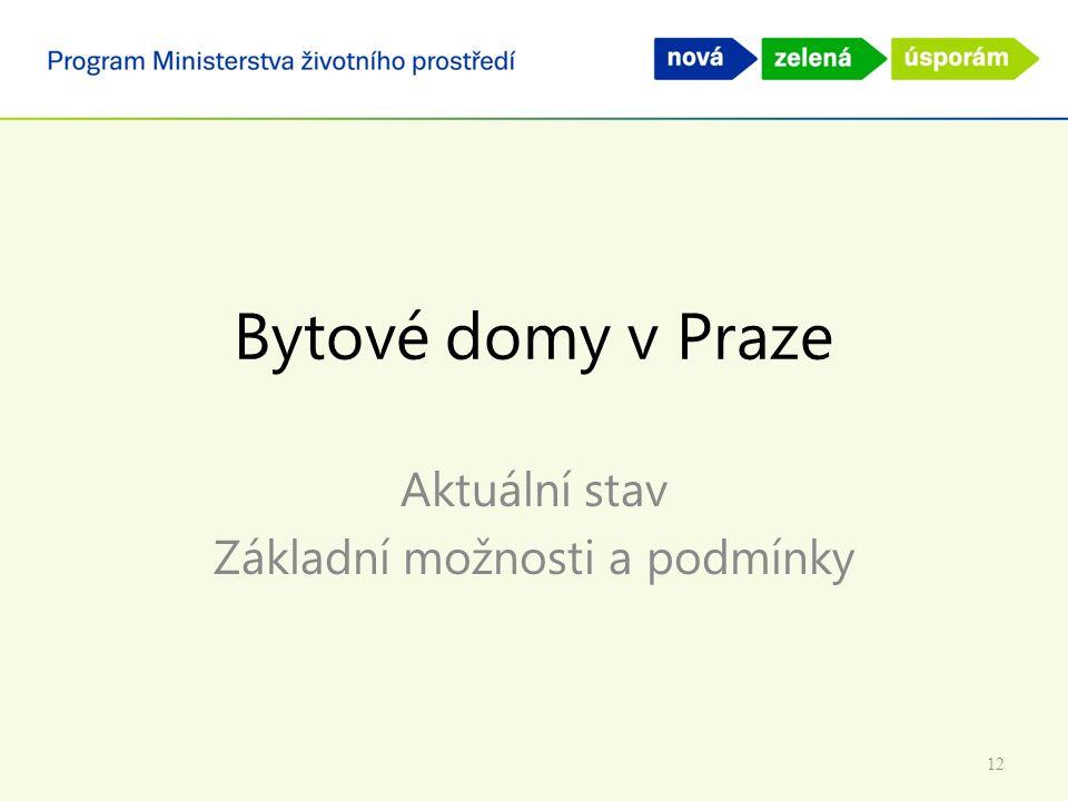 Bytové domy v Praze Aktuální stav Základní možnosti a podmínky 12