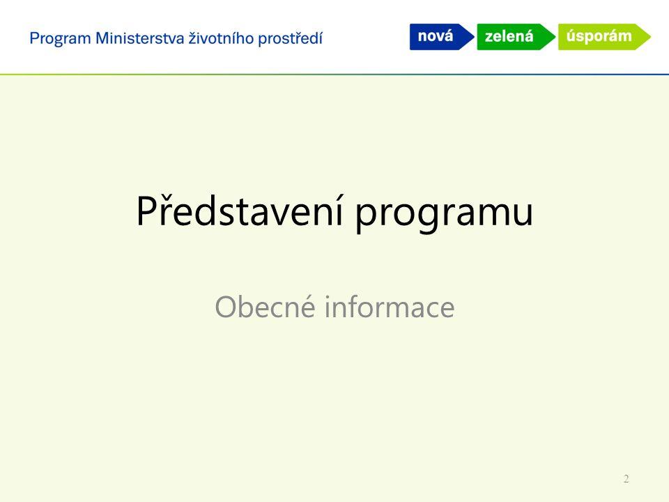 Představení programu Obecné informace 2