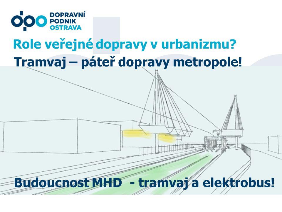 Role veřejné dopravy v urbanizmu? Tramvaj – páteř dopravy metropole! Budoucnost MHD - tramvaj a elektrobus!