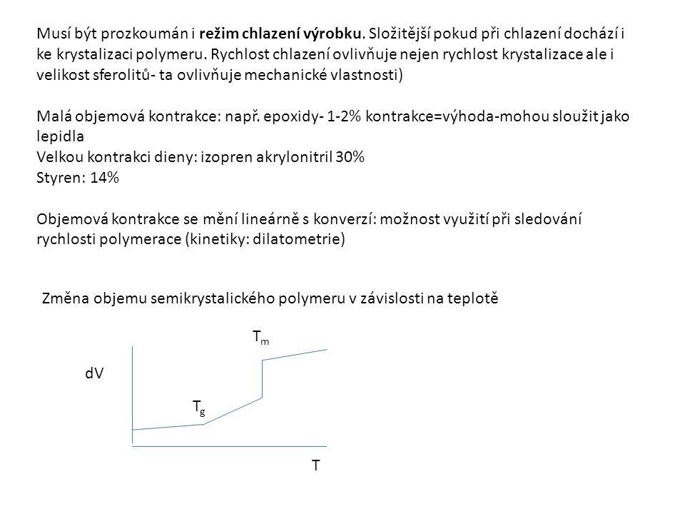 Většinou se polymerace provádí v kapalné fázi nad teplotou tání polymeru, výsledkem je tavenina polymeru, I pod teplotou tání polymeru-polymer se sráží (zejm.