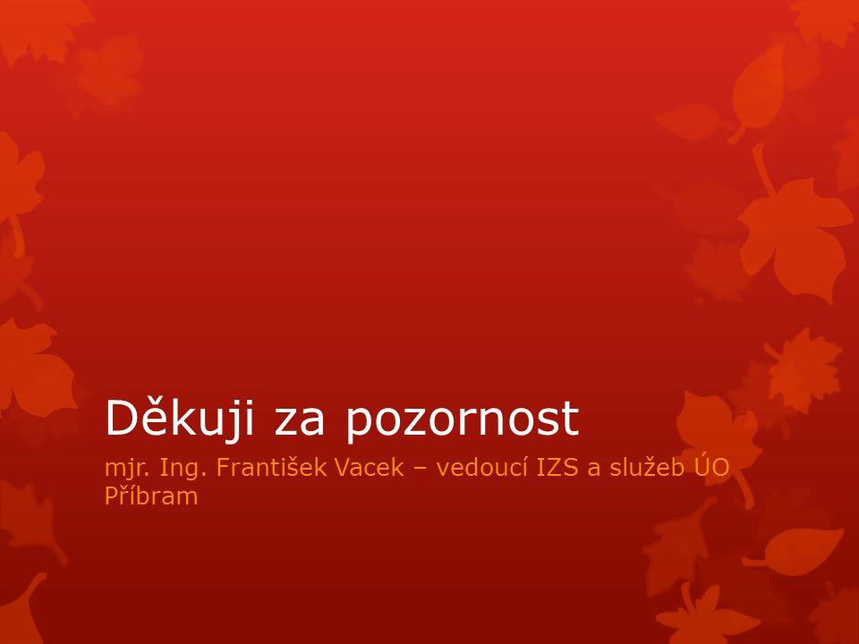 Děkuji za pozornost mjr. Ing. František Vacek – vedoucí IZS a služeb ÚO Příbram