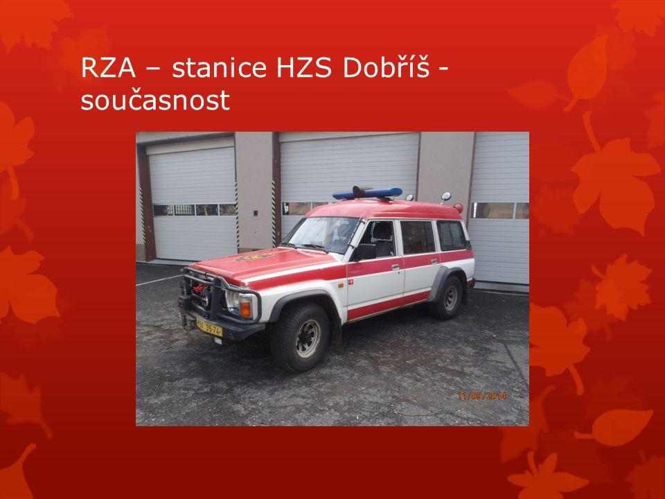 RZA – stanice HZS Dobříš - současnost