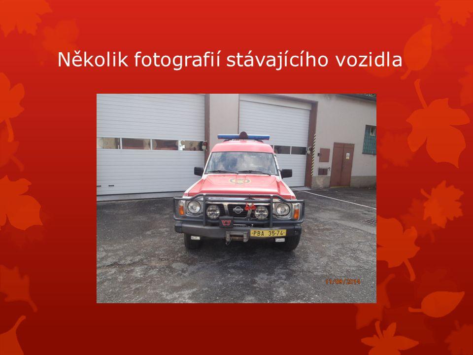 Několik fotografií stávajícího vozidla