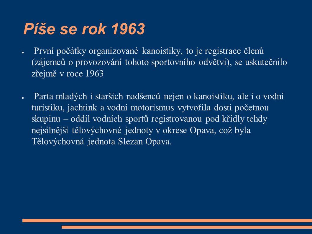 No a do třetice stavíme loděnici ještě i v Opavě ● Někdy kolem roku 1969 začínáme svépomocí stavět své zázemí konečně i v Opavě.