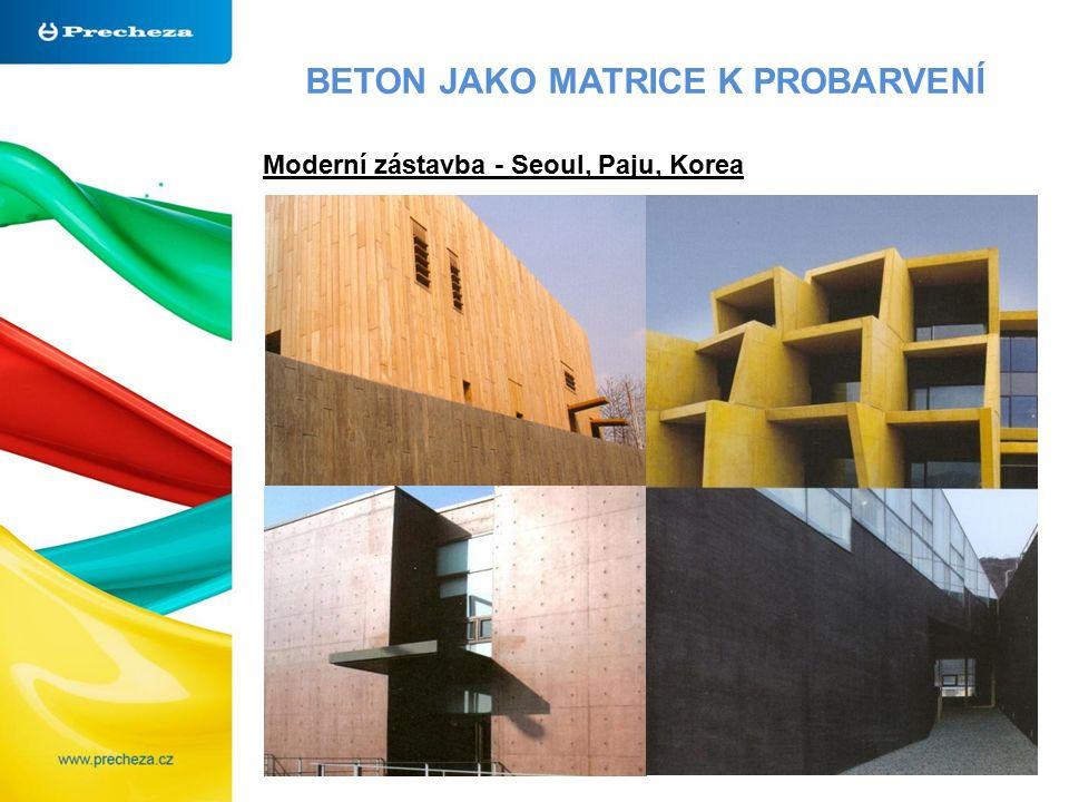BETON JAKO MATRICE K PROBARVENÍ Moderní zástavba - Seoul, Paju, Korea