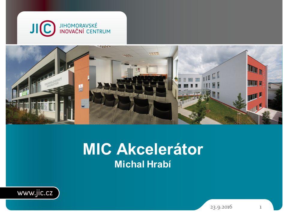 23.9.20161 MIC Akcelerátor Michal Hrabí