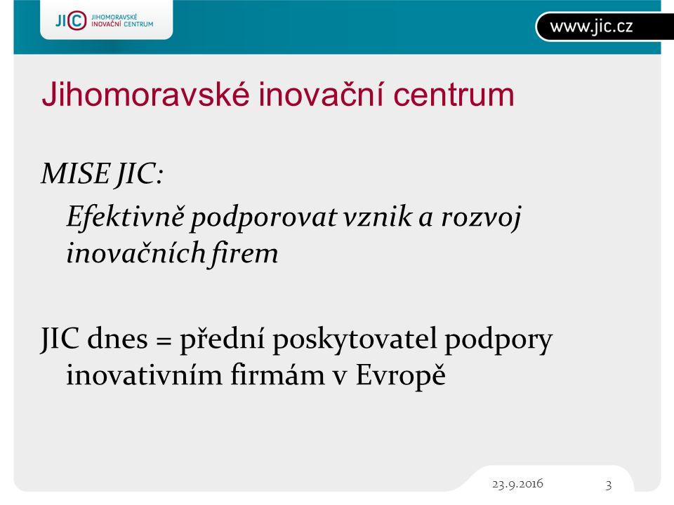 3 Jihomoravské inovační centrum MISE JIC: Efektivně podporovat vznik a rozvoj inovačních firem JIC dnes = přední poskytovatel podpory inovativním firmám v Evropě