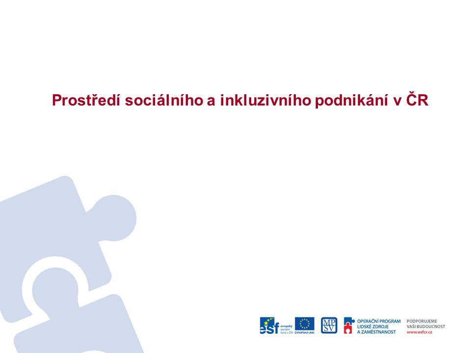 Prostředí sociálního a inkluzivního podnikání v ČR