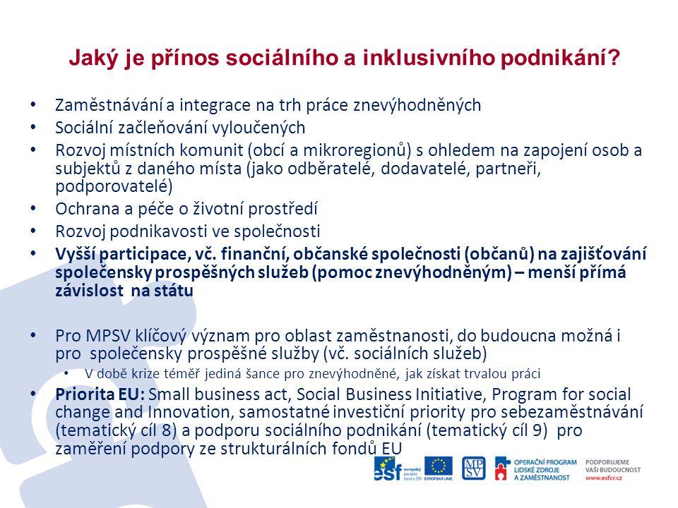 Jaký je přínos sociálního a inklusivního podnikání.