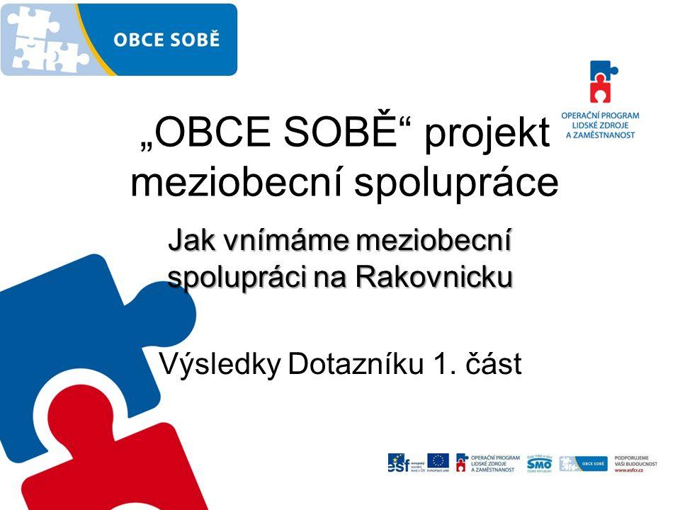 """""""OBCE SOBĚ projekt meziobecní spolupráce Jak vnímáme meziobecní spolupráci na Rakovnicku Výsledky Dotazníku 1."""