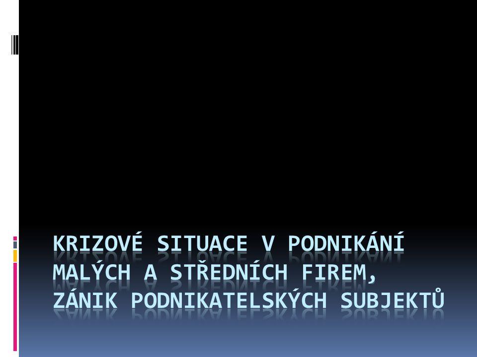 Obsah prezentace I.Příčiny krize v podniku II. Povahy krize III.