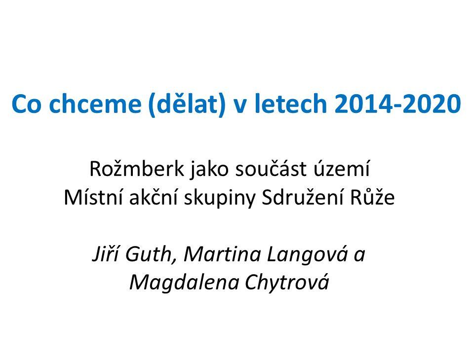 Co chceme (dělat) v letech 2014-2020 Rožmberk jako součást území Místní akční skupiny Sdružení Růže Jiří Guth, Martina Langová a Magdalena Chytrová