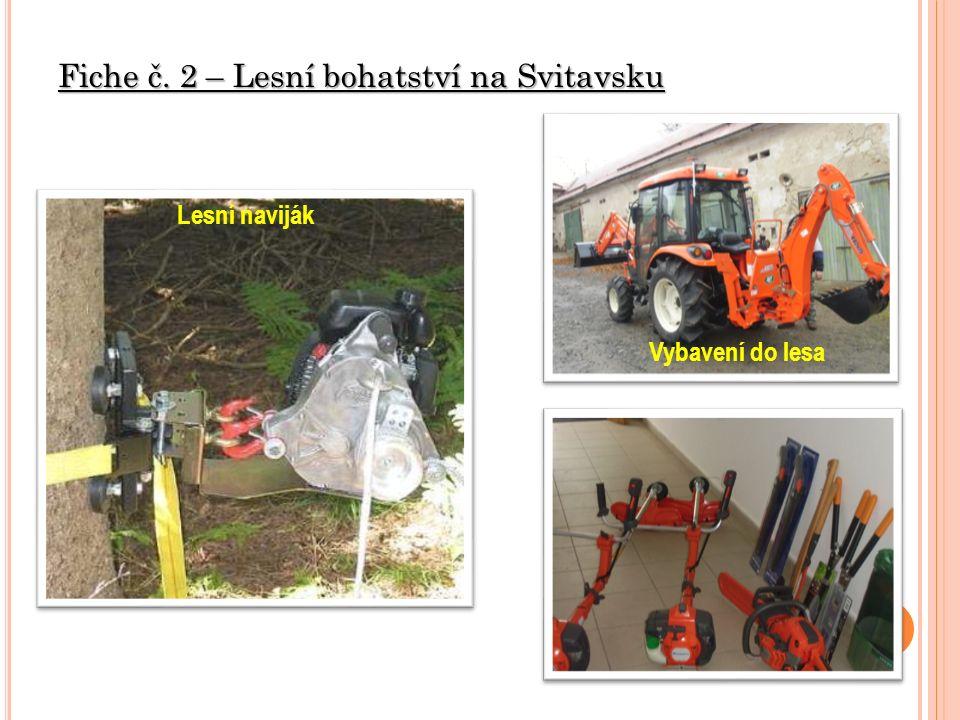 Fiche č. 2 – Lesní bohatství na Svitavsku Lesní naviják Vybavení do lesa