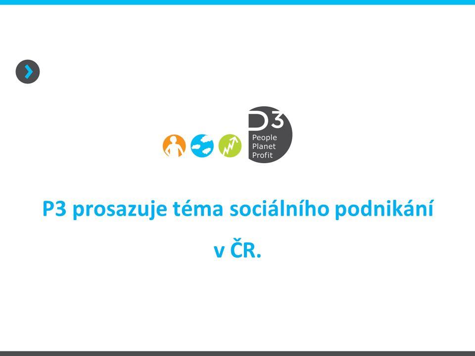 P3 prosazuje téma sociálního podnikání v ČR.