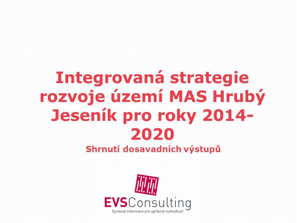 Integrovaná strategie rozvoje území MAS Hrubý Jeseník pro roky 2014- 2020 Shrnutí dosavadních výstupů