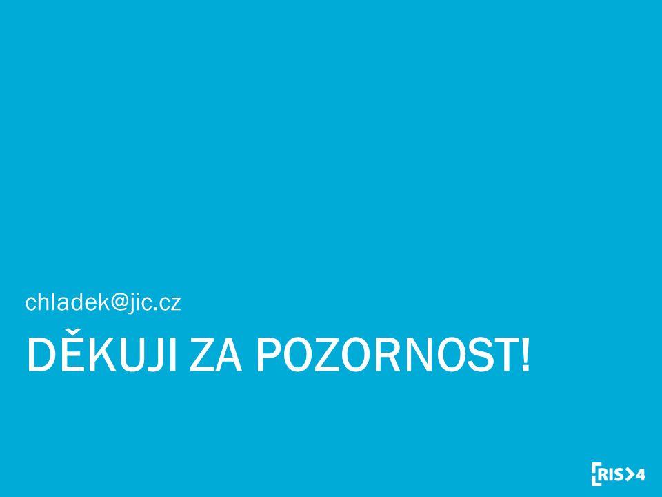 DĚKUJI ZA POZORNOST! chladek@jic.cz