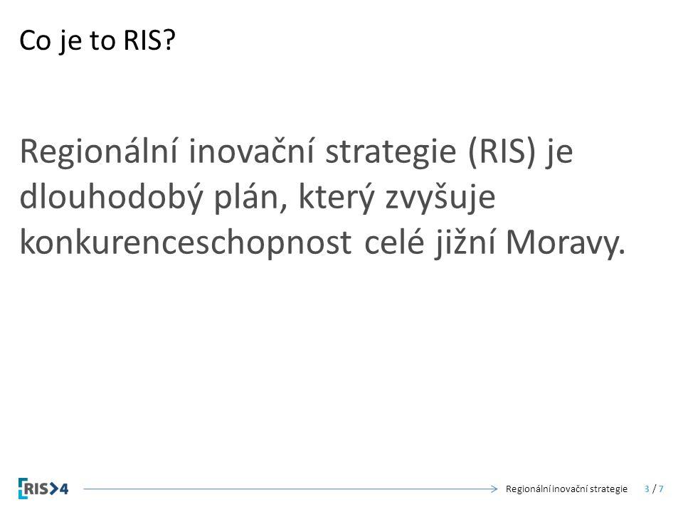 Regionální inovační strategie (RIS) je dlouhodobý plán, který zvyšuje konkurenceschopnost celé jižní Moravy. Co je to RIS? Regionální inovační strateg