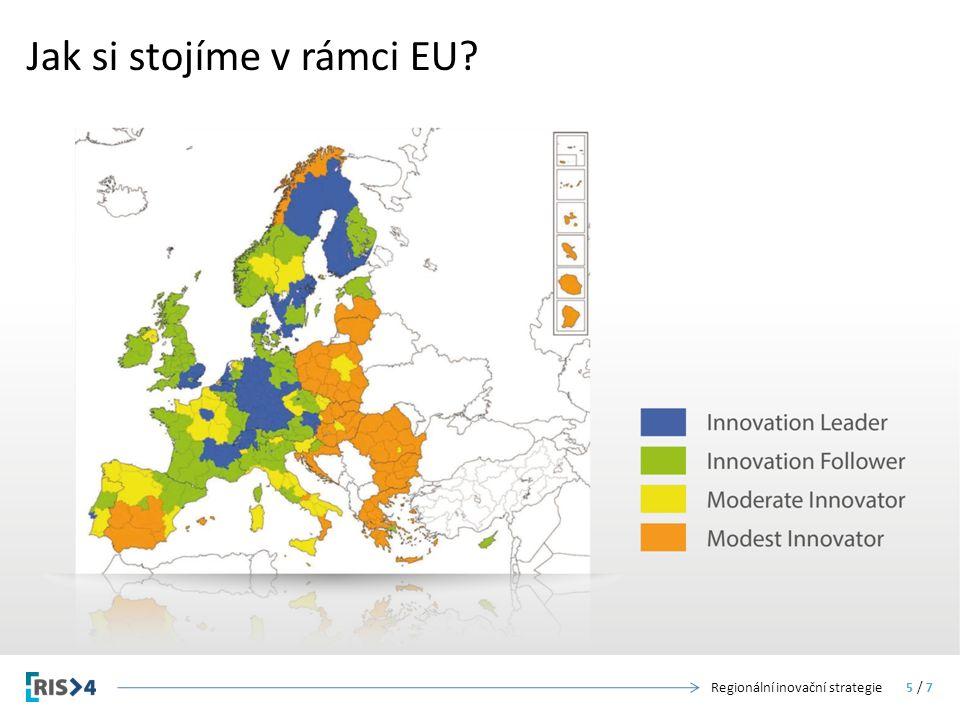 Jak si stojíme v rámci EU Regionální inovační strategie5 / 7