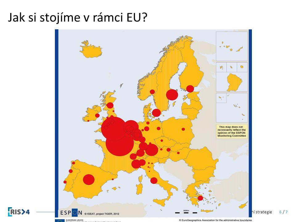 Jak si stojíme v rámci EU Regionální inovační strategie6 / 7