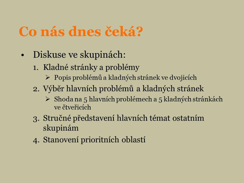 1.krok: Pozitiva a problémy cest. ruchu a lázeňství (list č.