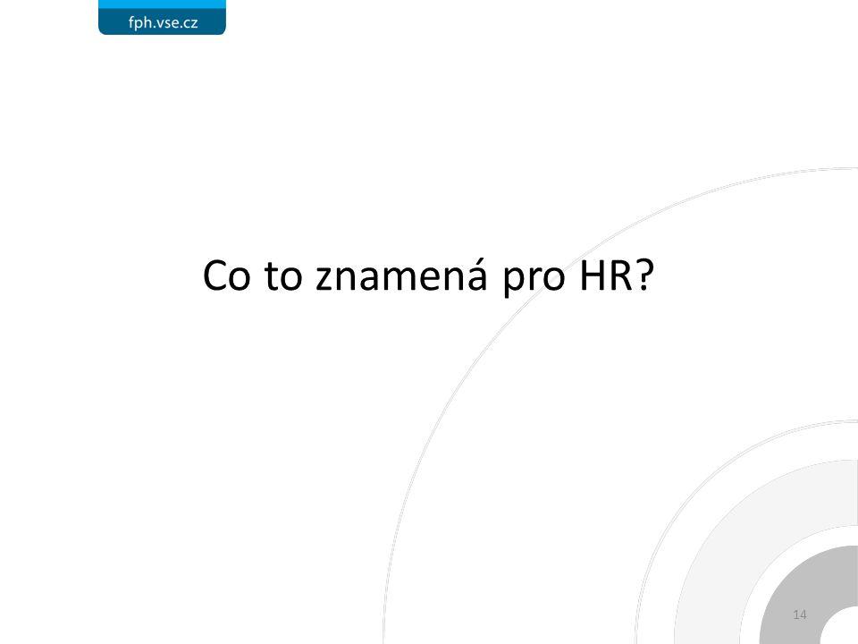 Co to znamená pro HR 14