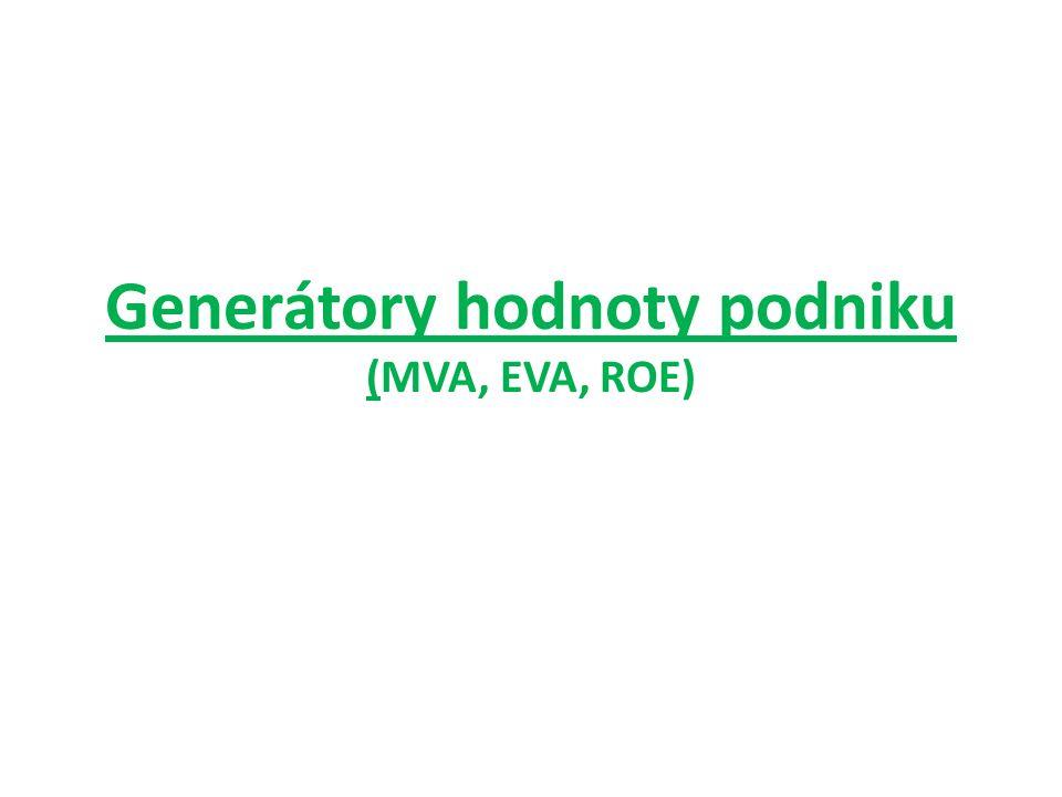 Generátory hodnoty podniku (MVA, EVA, ROE)
