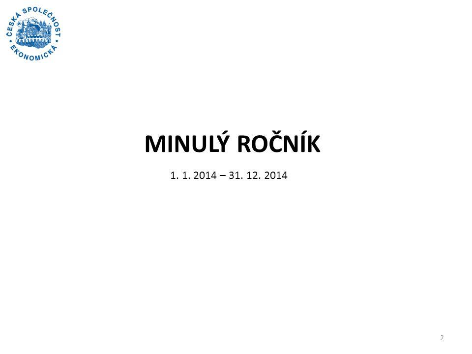 MINULÝ ROČNÍK 2 1. 1. 2014 – 31. 12. 2014