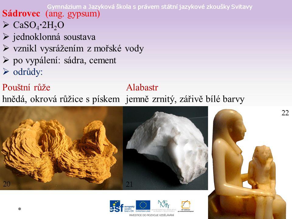 Gymnázium a Jazyková škola s právem státní jazykové zkoušky Svitavy Sádrovec (ang.