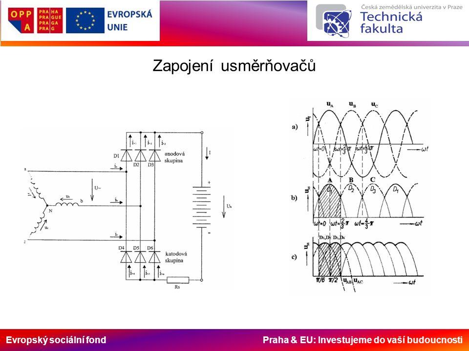 Evropský sociální fond Praha & EU: Investujeme do vaší budoucnosti Zapojení usměrňovačů