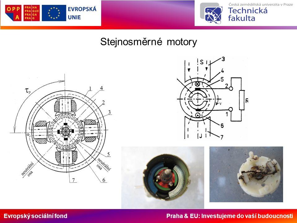 Evropský sociální fond Praha & EU: Investujeme do vaší budoucnosti Stejnosměrné motory