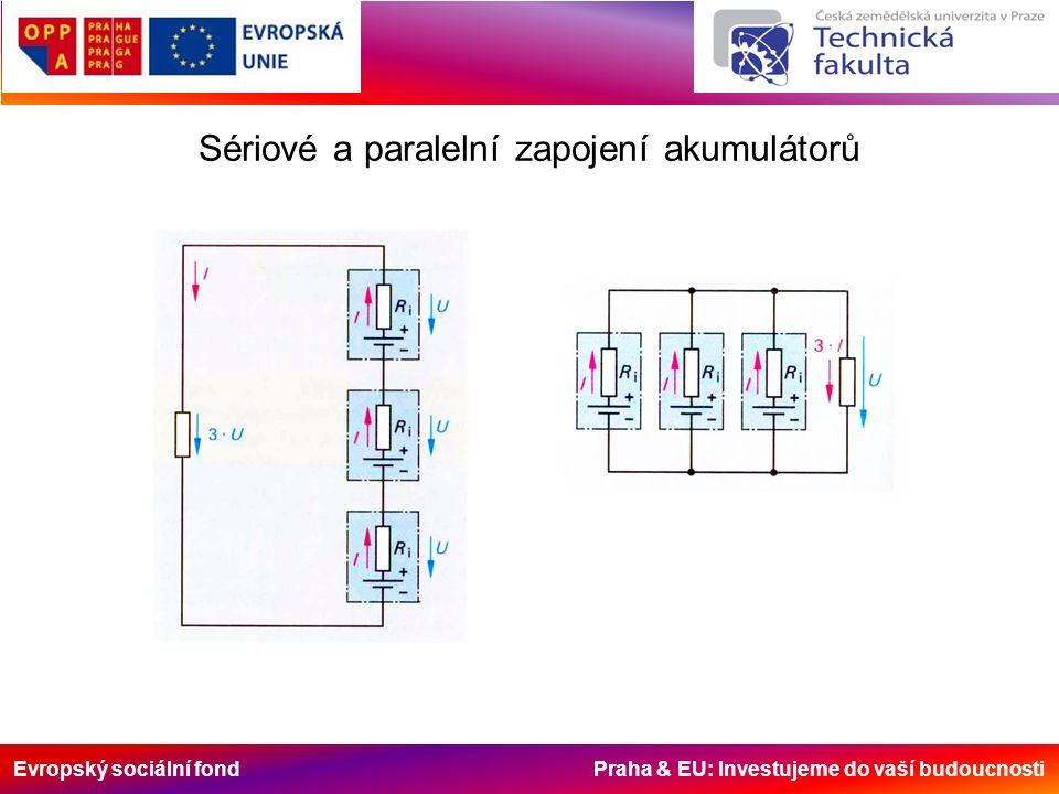 Evropský sociální fond Praha & EU: Investujeme do vaší budoucnosti Sériové a paralelní zapojení akumulátorů