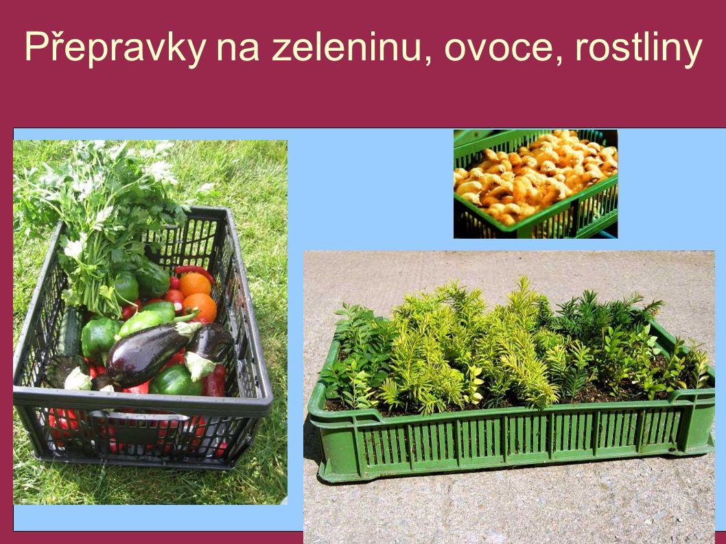 Přepravky na zeleninu, ovoce, rostliny