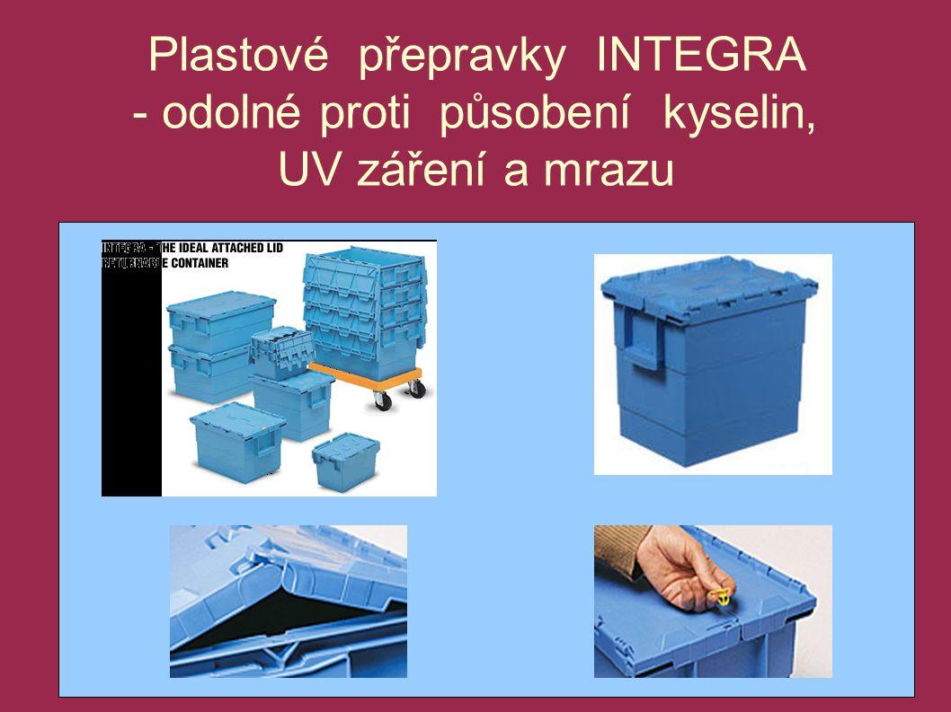 Plastové přepravky INTEGRA - odolné proti působení kyselin, UV záření a mrazu