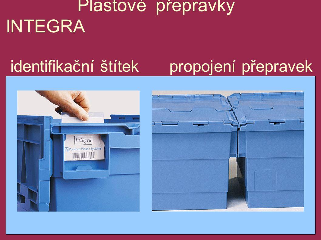 Plastové přepravky INTEGRA identifikační štítek propojení přepravek