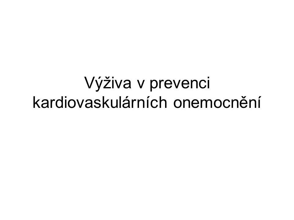 Výživa v prevenci kardiovaskulárních onemocnění