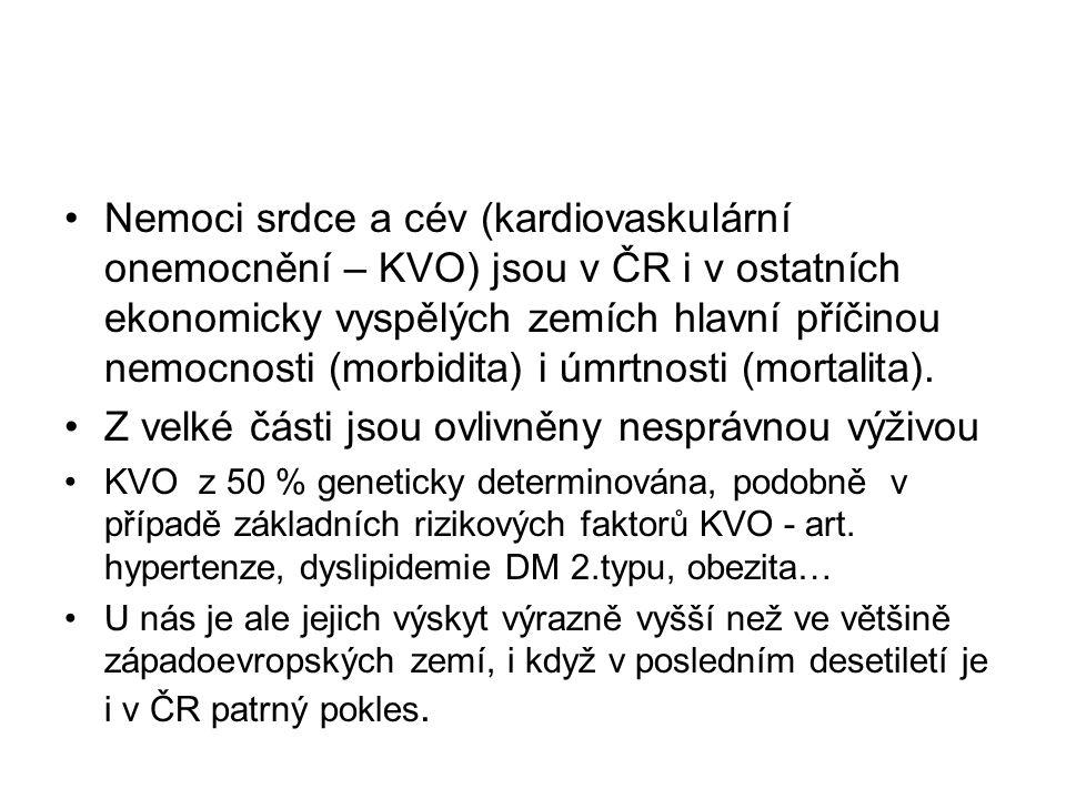 Nemoci srdce a cév (kardiovaskulární onemocnění – KVO) jsou v ČR i v ostatních ekonomicky vyspělých zemích hlavní příčinou nemocnosti (morbidita) i úmrtnosti (mortalita).