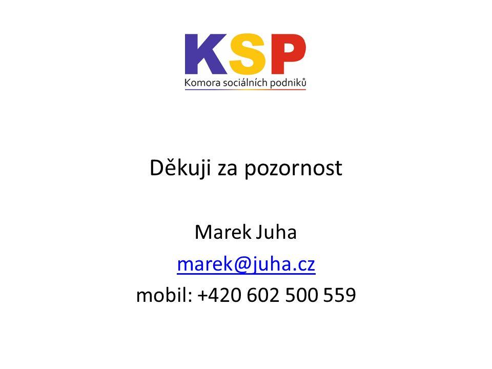Děkuji za pozornost Marek Juha marek@juha.cz mobil: +420 602 500 559