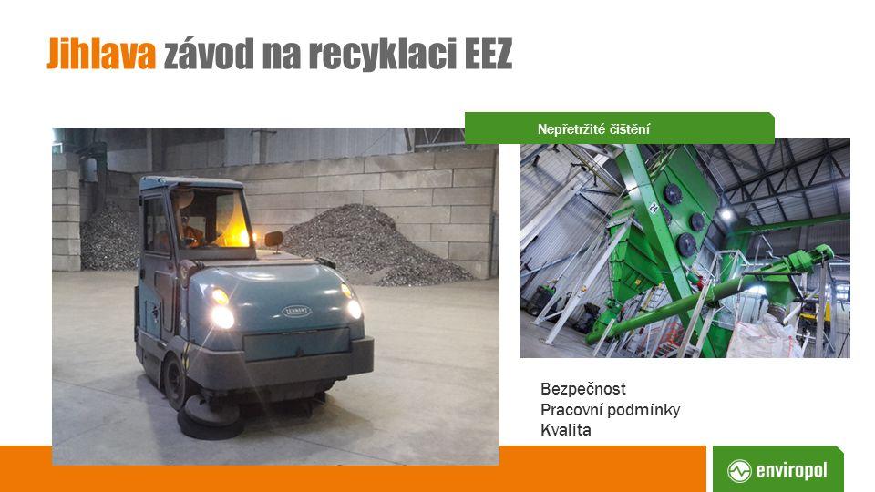 Jihlava závod na recyklaci EEZ Bezpečnost Pracovní podmínky Kvalita Nepřetržité čištění