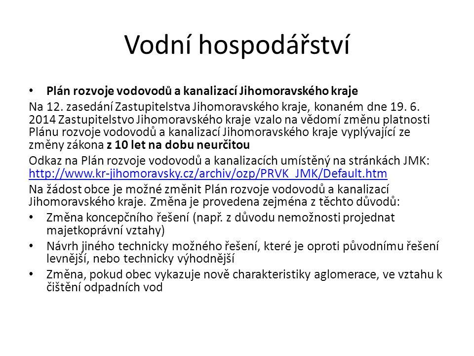 Vodní hospodářství Plán rozvoje vodovodů a kanalizací Jihomoravského kraje Na 12.