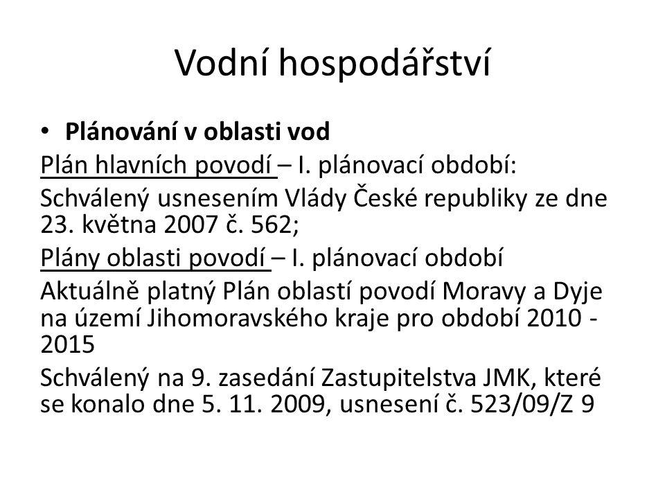 Vodní hospodářství Plánování v oblasti vod Národní plány povodí ČR - II.