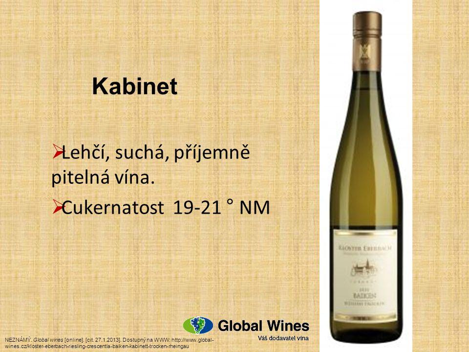  Lehčí, suchá, příjemně pitelná vína. Cukernatost 19-21 ° NM NEZNÁMÝ.