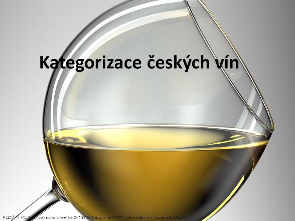 Kategorizace českých vín NEZNÁMÝ. http://www.tourtrans.ru [online].