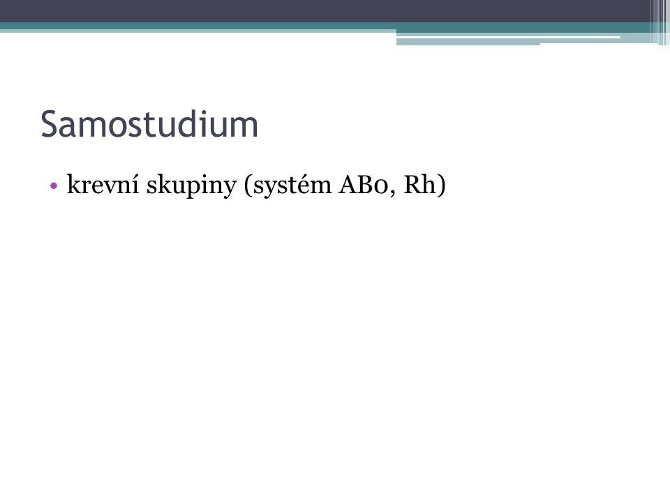 Samostudium krevní skupiny (systém AB0, Rh)