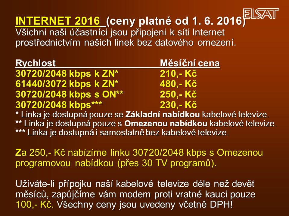 INTERNET 2016 (ceny platné od 1. 6.