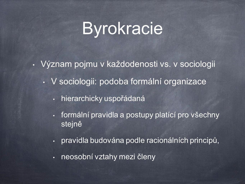 Byrokracie Význam pojmu v každodenosti vs.