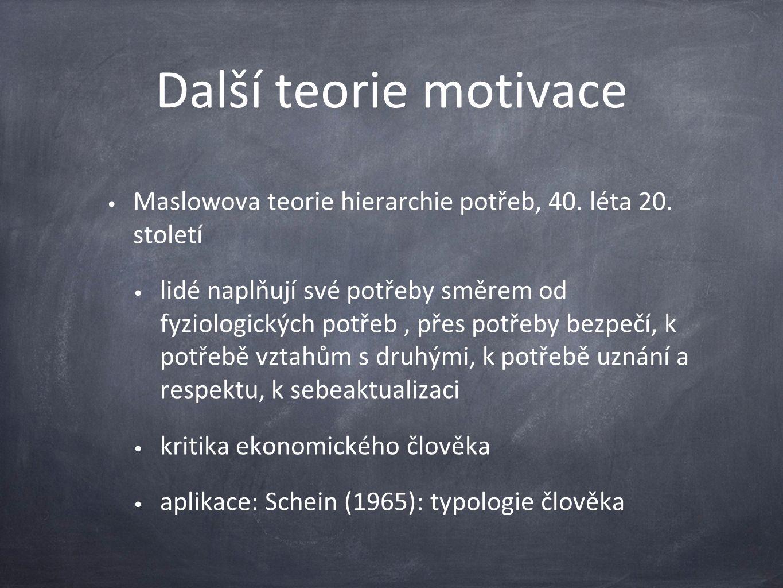 Další teorie motivace Maslowova teorie hierarchie potřeb, 40.